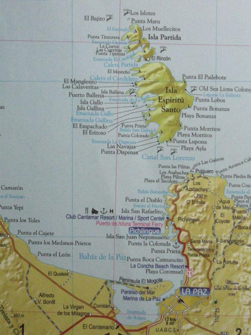 Sail, map of Espiritu Santo