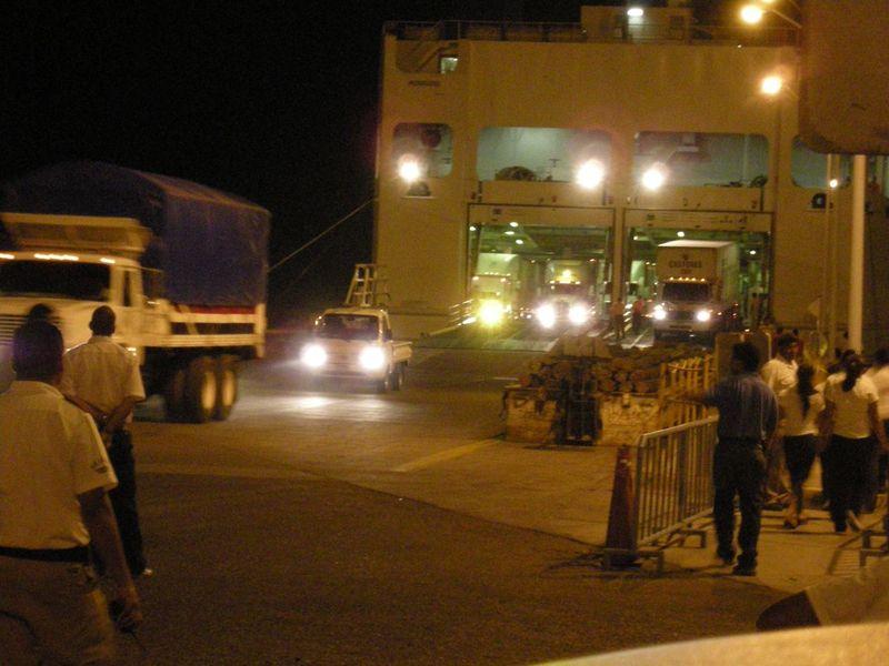 Ferry boat w: trucks