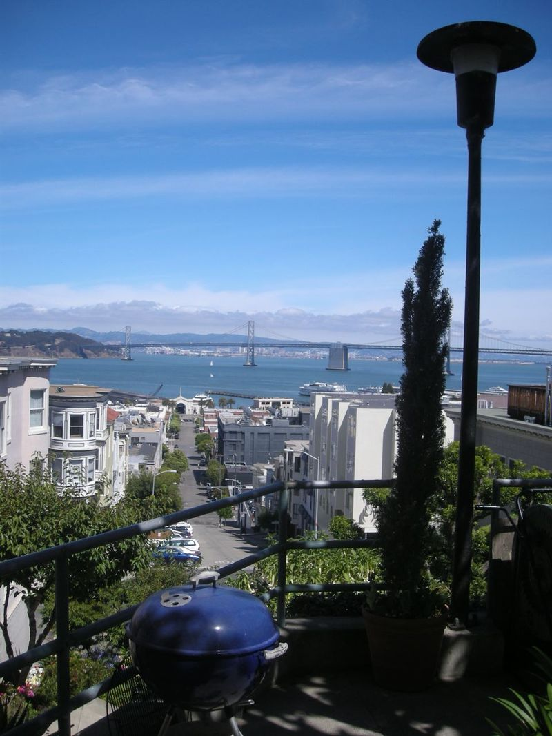 SF, Bay bridge view