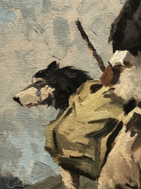 Fairbanks Museum Dog painting