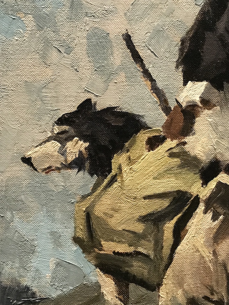 Fairbanks Museum Dog painting