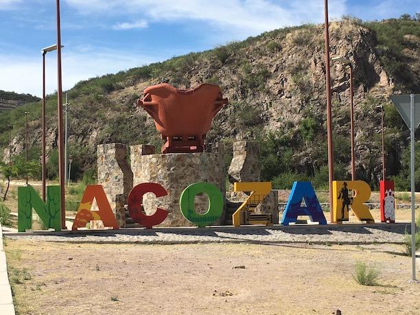 Nacozari entry sign