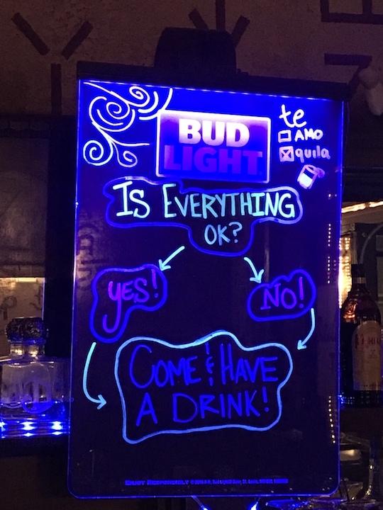 Douglas Bar sign