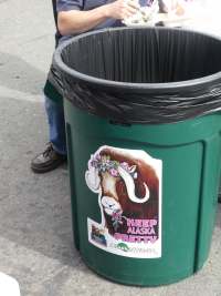 Anchorage Market garbage can
