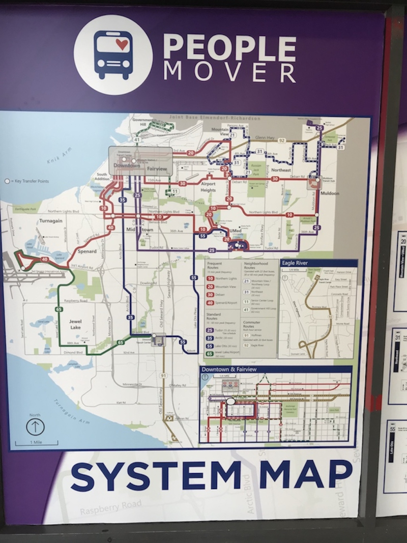 Anchorage Peoplemover map