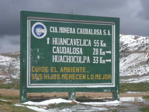 36 55 km to Huancavelica